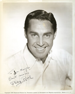 PHILLIP REED - AUTOGRAPHED INSCRIBED PHOTOGRAPH