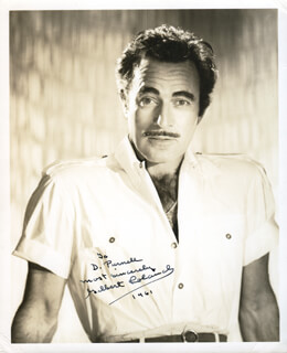 GILBERT ROLAND - AUTOGRAPHED INSCRIBED PHOTOGRAPH 1961