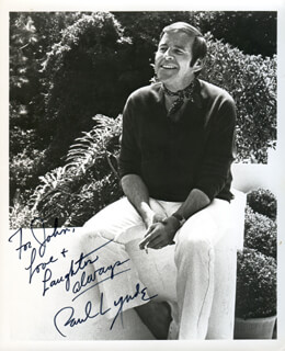 PAUL LYNDE - AUTOGRAPHED INSCRIBED PHOTOGRAPH