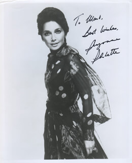 SUZANNE PLESHETTE - AUTOGRAPHED INSCRIBED PHOTOGRAPH