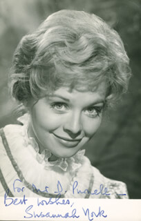 SUSANNAH YORK - INSCRIBED PICTURE POSTCARD SIGNED
