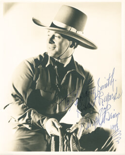 GEORGE O'BRIEN - AUTOGRAPHED INSCRIBED PHOTOGRAPH 1973