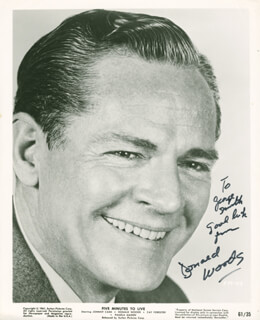 DONALD WOODS - AUTOGRAPHED INSCRIBED PHOTOGRAPH