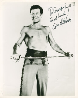 CORNEL WILDE - AUTOGRAPHED INSCRIBED PHOTOGRAPH