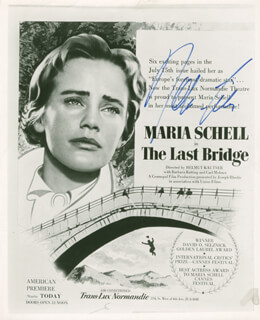 MARIA SCHELL - MAGAZINE ADVERTISEMENT SIGNED