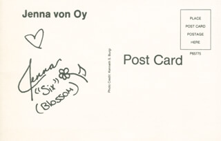 JENNA VON OY - POST CARD SIGNED