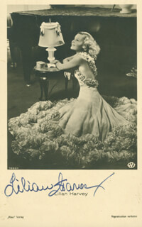 LILIAN HARVEY - POST CARD SIGNED
