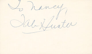 TAB HUNTER - INSCRIBED SIGNATURE
