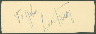 LEE TRACY - INSCRIBED SIGNATURE