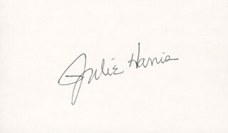 JULIE HARRIS - AUTOGRAPH