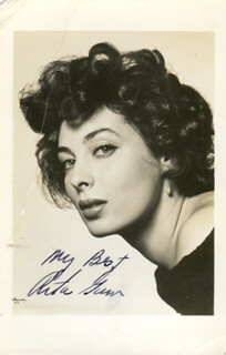RITA GAM - AUTOGRAPHED SIGNED PHOTOGRAPH