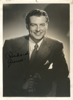RICHARD GREENE - AUTOGRAPHED SIGNED PHOTOGRAPH