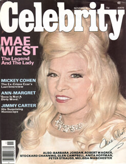 MAE WEST - MAGAZINE COVER SIGNED