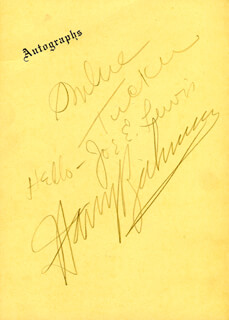 SOPHIE TUCKER - PROGRAM SIGNED CO-SIGNED BY: JOE E. LEWIS, HARRY RICHMAN