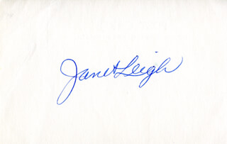 JANET LEIGH - AUTOGRAPH