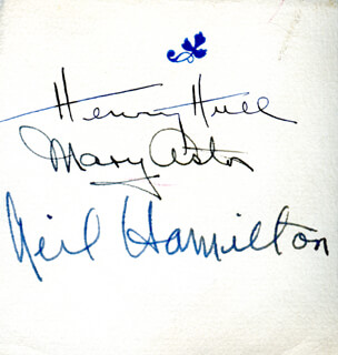 MANY HAPPY RETURNS PLAY CAST - AUTOGRAPH CO-SIGNED BY: MARY ASTOR, HENRY HULL, NEIL HAMILTON