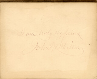 JOHN GREENLEAF WHITTIER - AUTOGRAPH SENTIMENT SIGNED