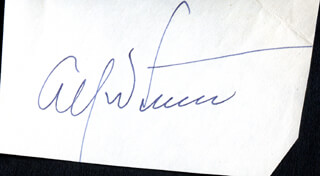 ALFRED LUNT - AUTOGRAPH
