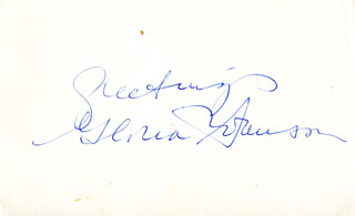 GLORIA SWANSON - AUTOGRAPH SENTIMENT SIGNED