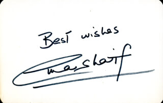 OMAR SHARIF - AUTOGRAPH SENTIMENT SIGNED