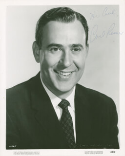 CARL REINER - INSCRIBED PRINTED PHOTOGRAPH SIGNED IN INK