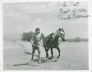 CHARLES BRONSON - AUTOGRAPHED INSCRIBED PHOTOGRAPH