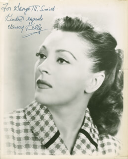 NANCY KELLY - AUTOGRAPHED INSCRIBED PHOTOGRAPH