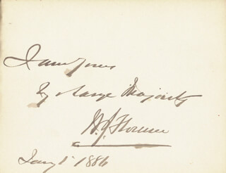 WILLIAM J. FLORENCE - AUTOGRAPH NOTE SIGNED 01/01/1886