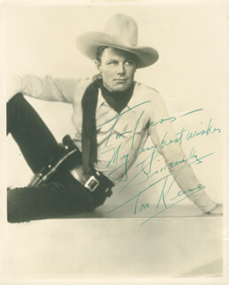 TOM KEENE - AUTOGRAPHED INSCRIBED PHOTOGRAPH
