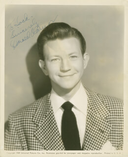 DONALD O'CONNOR - INSCRIBED PRINTED PHOTOGRAPH SIGNED IN INK