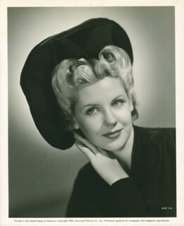 MARIE McDONALD - AUTOGRAPHED INSCRIBED PHOTOGRAPH