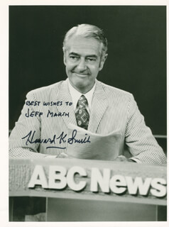 HOWARD K. SMITH - AUTOGRAPHED INSCRIBED PHOTOGRAPH