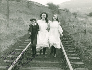 THE RAILWAY CHILDREN MOVIE CAST - AUTOGRAPHED INSCRIBED PHOTOGRAPH CO-SIGNED BY: JENNY AGUTTER, SALLY THOMSETT