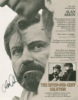 ALAN ARKIN - NEWSPAPER ADVERTISEMENT SIGNED