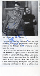 JEFF DANIELS - NEWSPAPER ARTICLE SIGNED