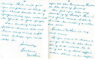 BARBARA McNAIR - AUTOGRAPH LETTER SIGNED 01/20/1958