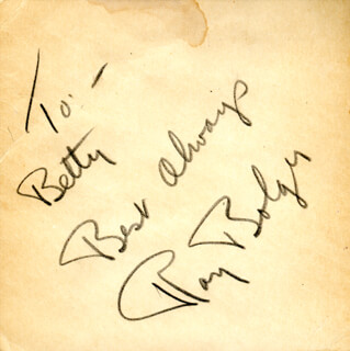RAY BOLGER - AUTOGRAPH NOTE SIGNED