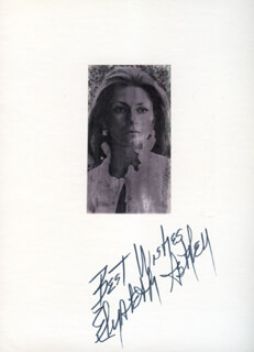 ELIZABETH ASHLEY - AUTOGRAPH SENTIMENT SIGNED