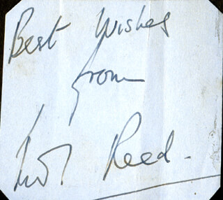 WALTER REED - AUTOGRAPH SENTIMENT SIGNED