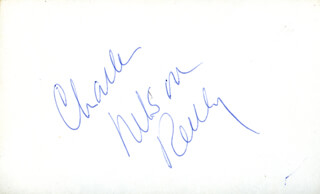 CHARLES NELSON REILLY - AUTOGRAPH