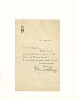DAVID BELASCO - TYPED LETTER SIGNED 07/06/1930