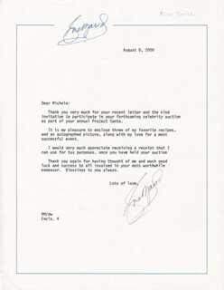 ROSE MARIE - TYPED LETTER SIGNED 08/08/2000