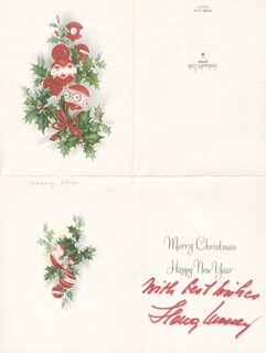 IIONA MASSEY - CHRISTMAS / HOLIDAY CARD SIGNED