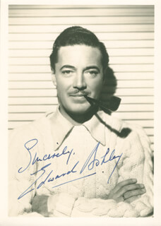 EDWARD ASHLEY - AUTOGRAPHED SIGNED PHOTOGRAPH