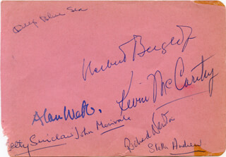 KEVIN McCARTHY - AUTOGRAPH CO-SIGNED BY: JOHN JACK MERIVALE, ALAN WEBB, BETTY SINCLAIR, STELLA ANDREW