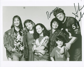ROSEANNE TV CAST - AUTOGRAPHED SIGNED PHOTOGRAPH CO-SIGNED BY: JOHN GOODMAN, ROSEANNE BARR