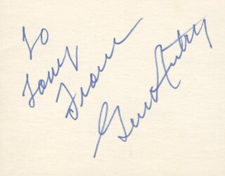 GENE AUTRY - INSCRIBED SIGNATURE