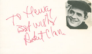 ROBERT CLARY - AUTOGRAPH NOTE SIGNED