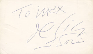 VITTORIO DE SICA - INSCRIBED SIGNATURE