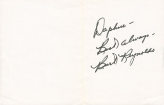 BURT REYNOLDS - GREETING CARD SIGNED